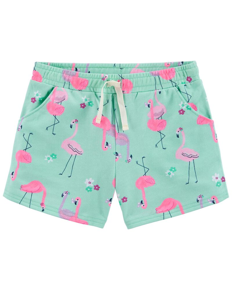 Flamingo Pull-On French Terry Shorts, , hi-res