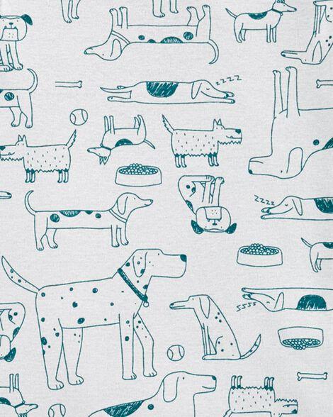 2-Piece Dog Snug Fit Cotton PJs