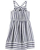 Striped Linen Dress, , hi-res