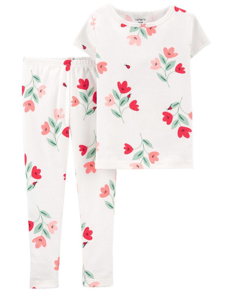 2-Piece Floral 100% Snug Fit Cotton PJs, , hi-res