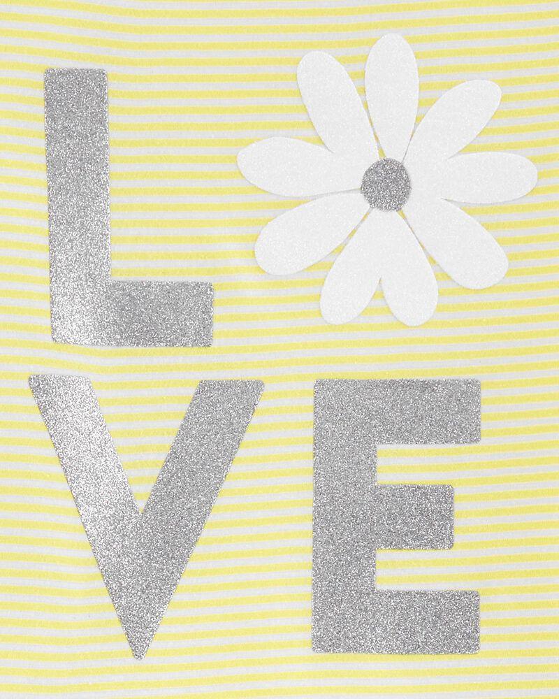 2-Piece Love Flutter Tie-Front Tee & Floral Legging Set, , hi-res