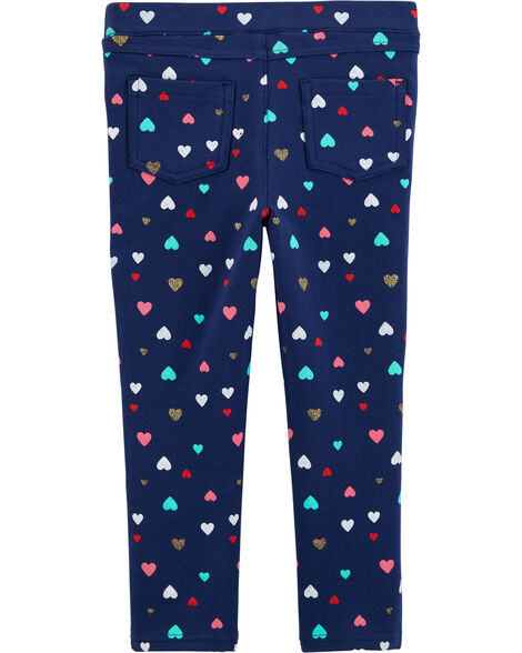 Heart Pull-On French Terry Pants