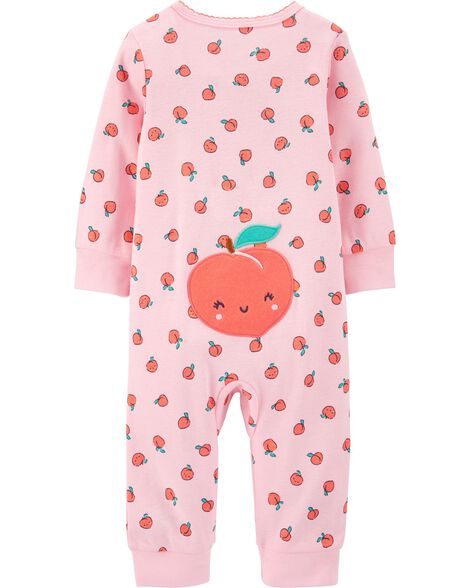 Strawberry Zip-Up Cotton Footless Sleep & Play