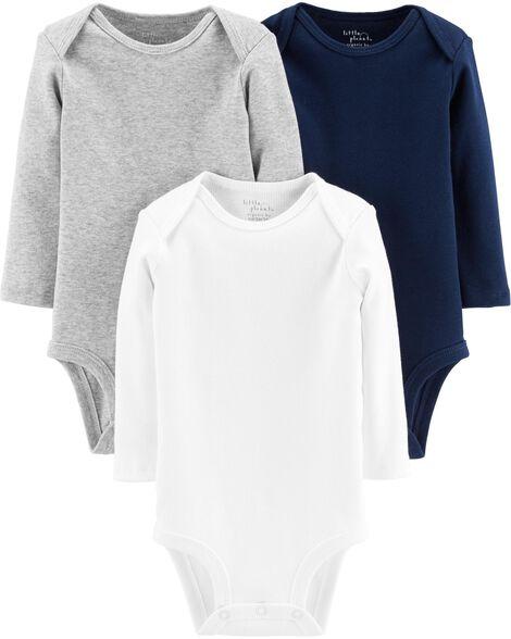 3-Pack Certified Organic Bodysuits