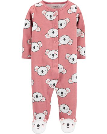 Koala Snap-Up Cotton Sleep & Play