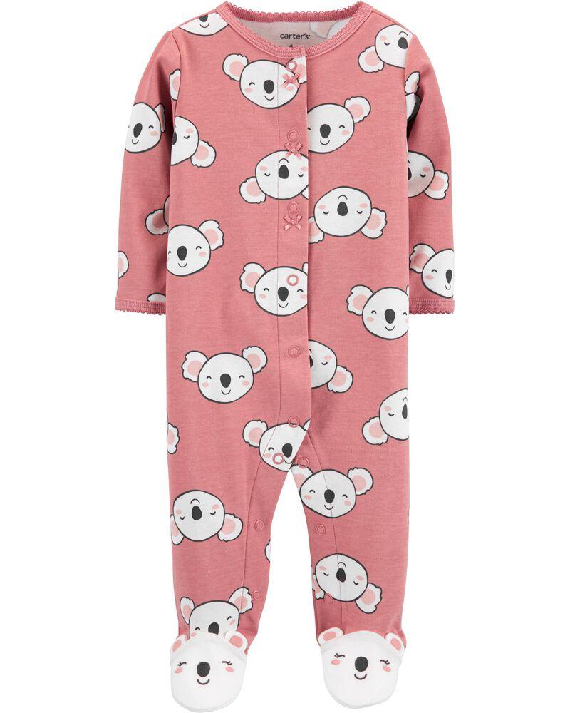 Koala Snap-Up Cotton Sleep & Play, , hi-res