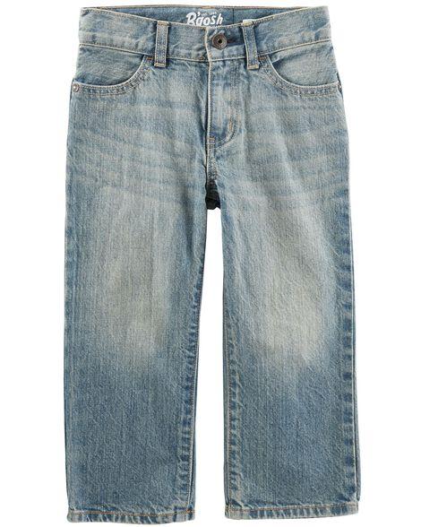Jeans classique - délavage bleu véritable
