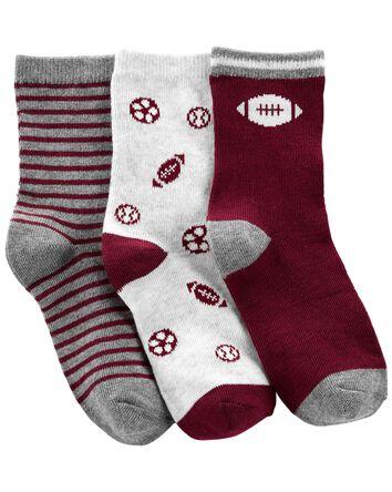 3 paires de chaussettes mi-mollet