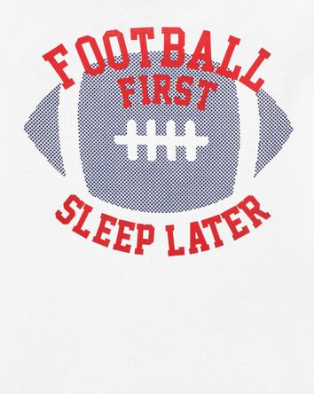 4-Piece Football Snug Fit Cotton PJ...