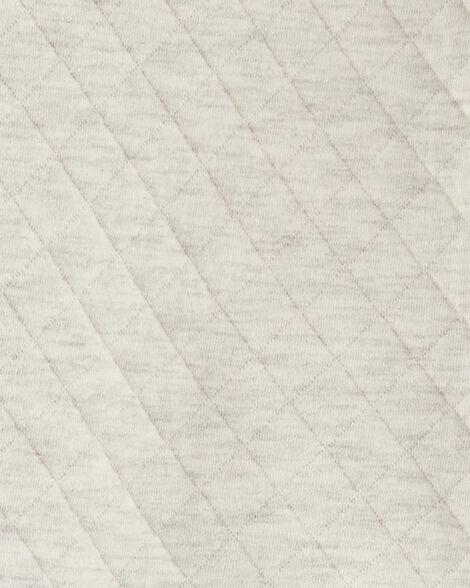 Combinaison d'hiver à capuchon en tissu matelassé chiné