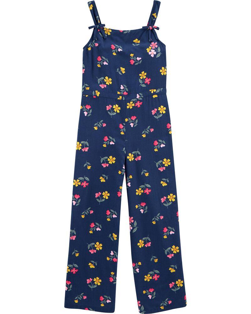 Floral Viscose Jumpsuit, , hi-res