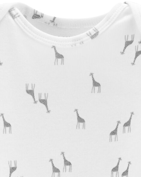 3-Pack Giraffe Certified Organic Bodysuits