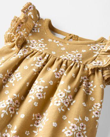 Organic Cotton Rib Bodysuit Dress