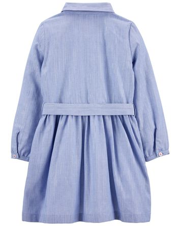 Robe tissée en chambray