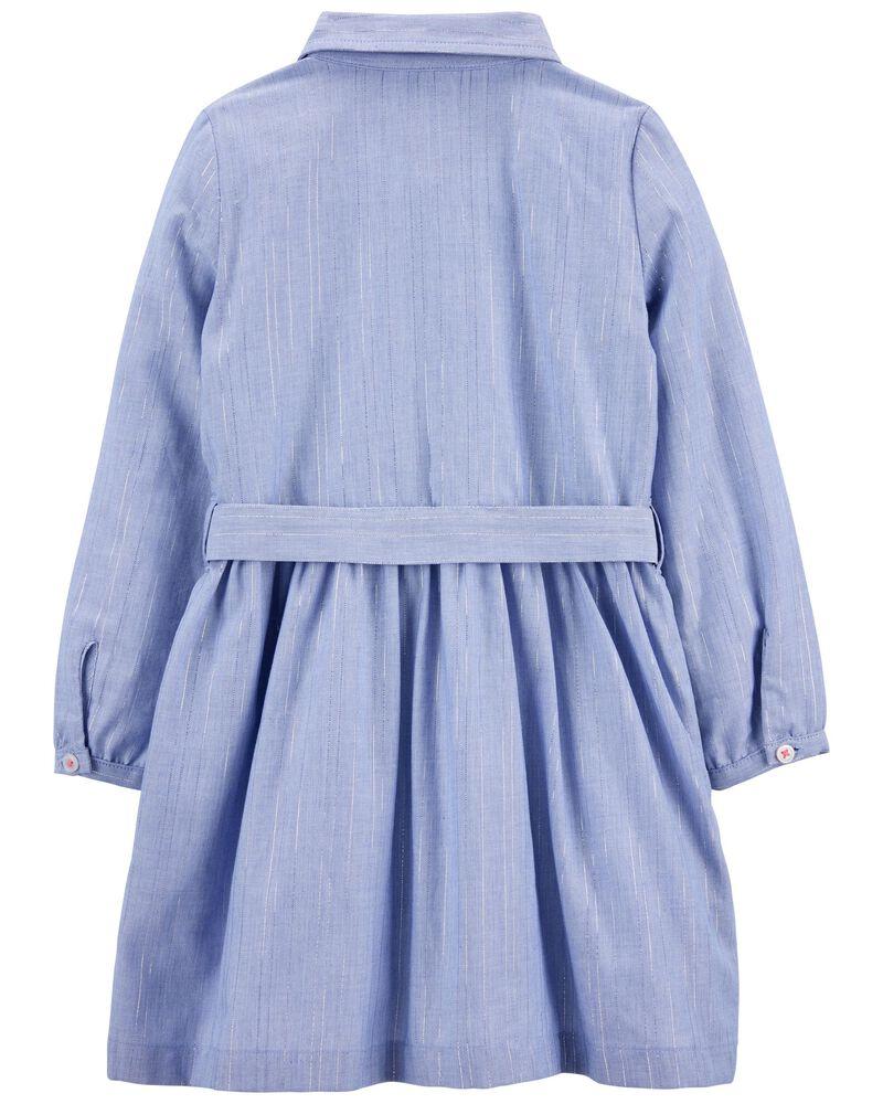 Chambray Woven Dress, , hi-res