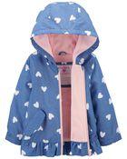Heart Fleece-Lined Jacket, , hi-res
