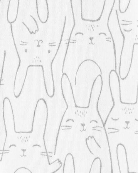 Grenouillère à boutons-pression en coton pour dormir et jouer lapin