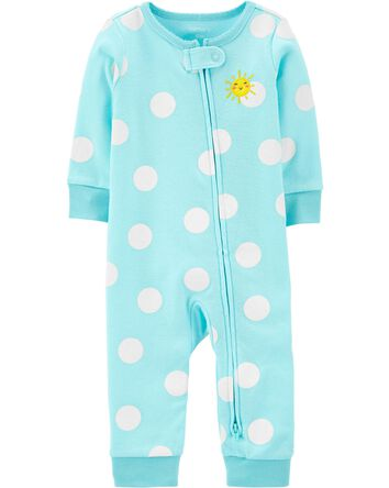 Sun 2-Way Zip Cotton Footless Sleep...