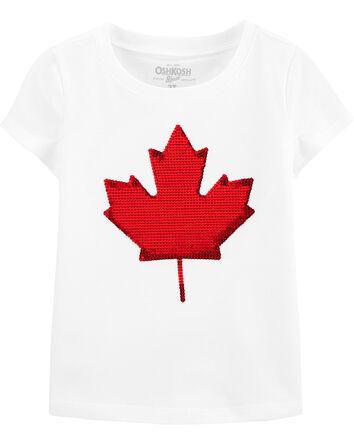 T-shirt à feuille d'érable Fête du...