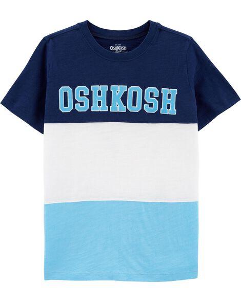 T-shirt à logo de couleurs contrastantes