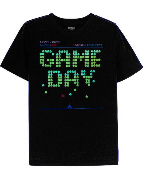 T-shirt en jersey doux à jeux vidéo