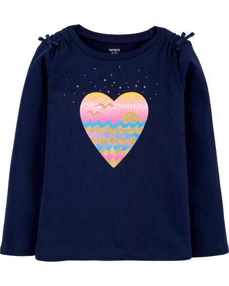 T-shirt en jersey scintillant Summer