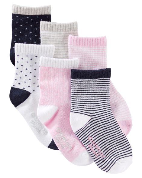 6 paires de chaussettes à motif