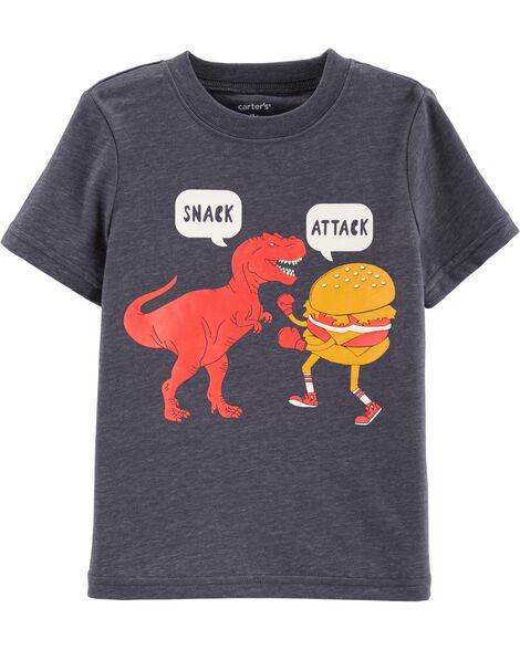 Snack Attack Dinosaur Graphic Tee