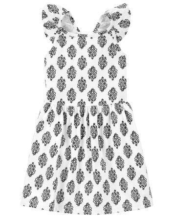 Geo Print Jersey Dress