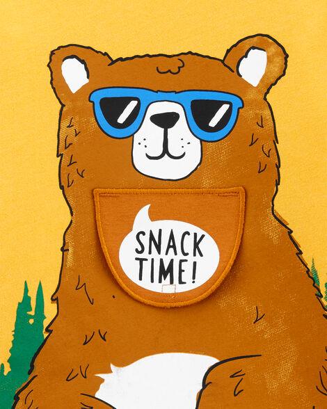 Bear Peek-A-Boo Snow Yarn Tee