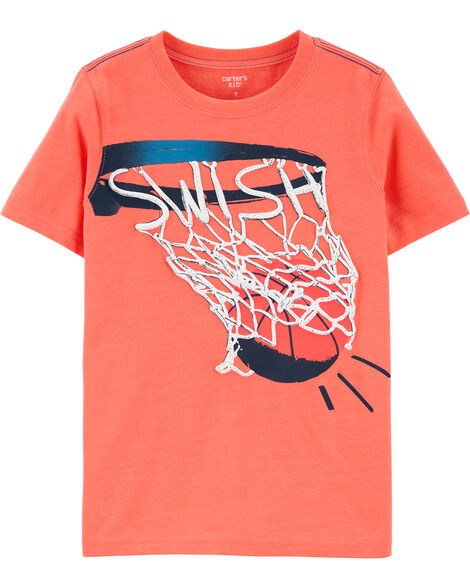Basketball Snow Yarn Jersey Tee