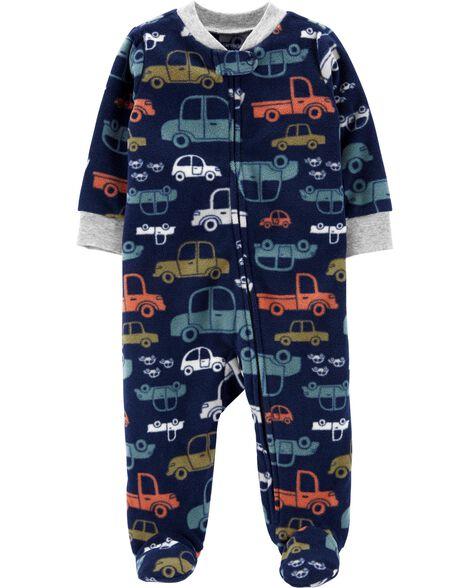 Cars Zip-Up Fleece Sleep & Play
