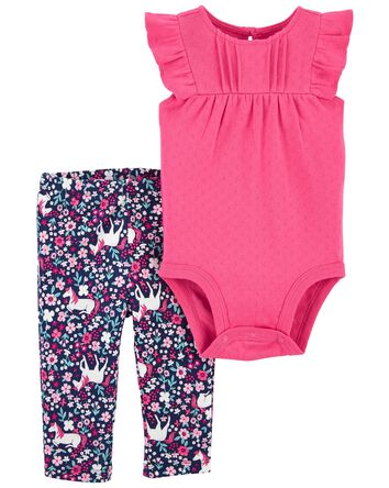 2-Piece Unicorn Bodysuit Pant Set