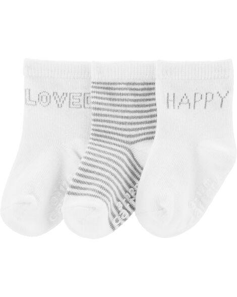 3 paires de chaussettes mi-mollet Happy