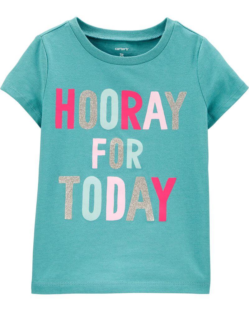 T-shirt en jersey Hooray for today, , hi-res