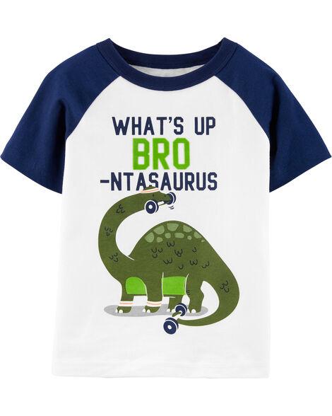 T-shirt en jersey à manches raglan Bro Dinosaur