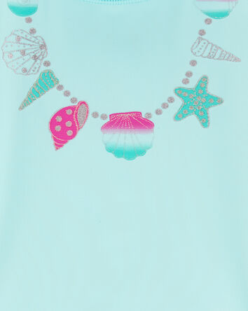 Shell Necklace 2-Piece Rashguard Se...