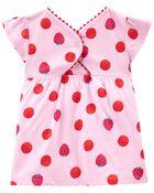 2-Piece Strawberry Top & Knit Denim Legging Set, , hi-res