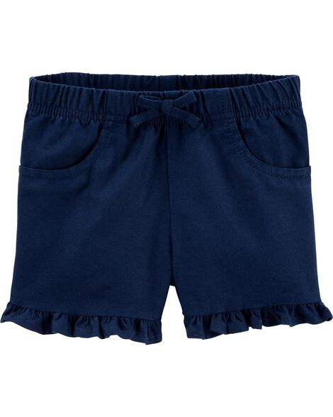 Short à enfiler en sergé