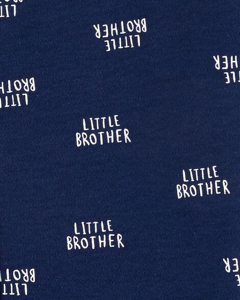 Grenouillère pour dormir et jouer en coton avec glissière Little Brother