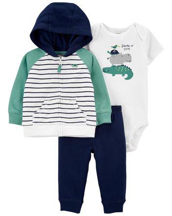 3-Piece Striped Little Jacket Set
