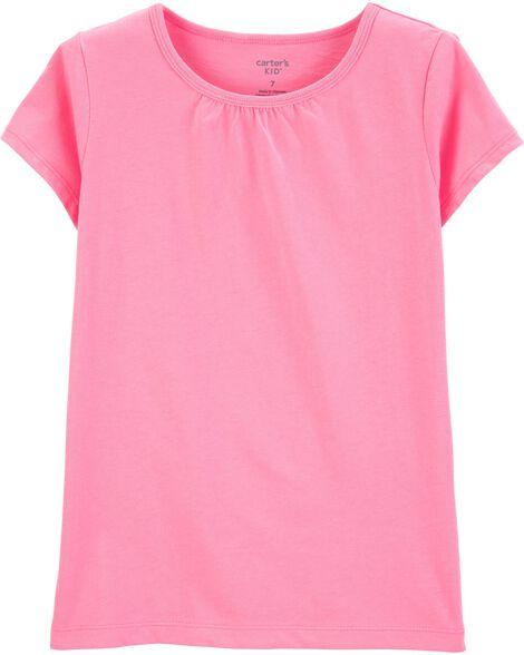 T-shirt en coton rose