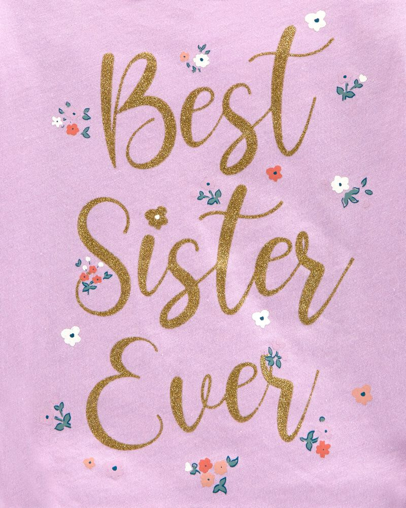 T-shirt en jersey scintillant Sister Vibes, , hi-res