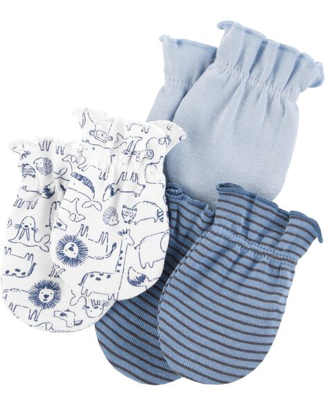 3-Pack No-Scratch Mittens