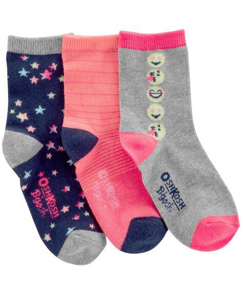 3-Pack Emoji Crew Socks