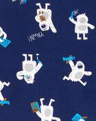 Pyjamas 4 pièces en coton ajusté , , hi-res