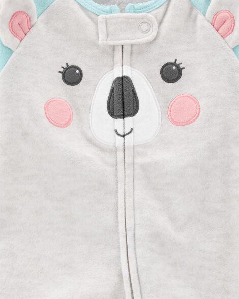 Koala Zip-Up Fleece Sleep & Play
