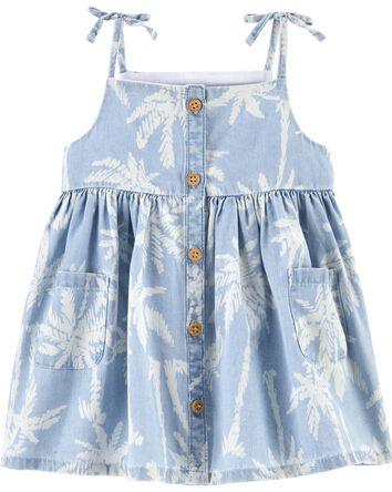 Chambray Palm Pocket Dress