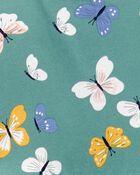 2-Piece Butterfly Peplum Bodysuit Pant Set, , hi-res