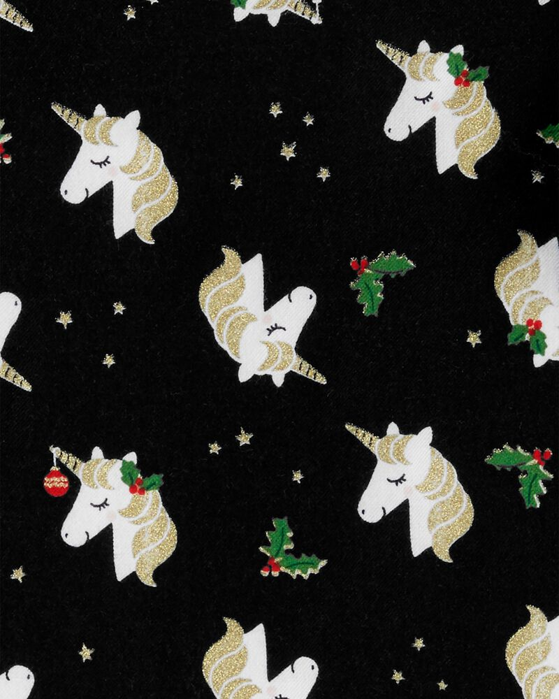 Holiday Unicorn Twill Top, , hi-res